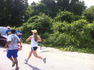Here I am crossing the finish!