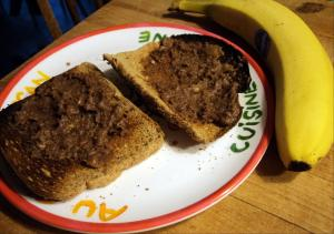 Toast with Amazing Almond Nutella