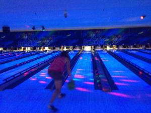 Here I am, about to bowl a strike! Just kidding.