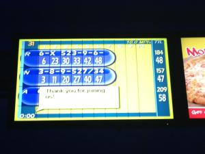 The final score... Note that I came in last.