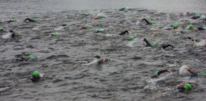 The olympic distance men's wave begins!