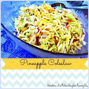pineapple coleslaw redone!