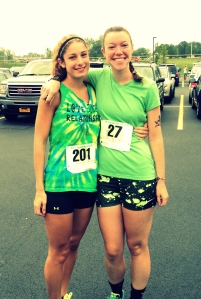 Lisa and Kristin nabbed 5th and 6th places in their age group for the 5K!