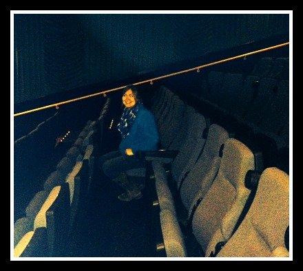 We had the theater all to ourselves!