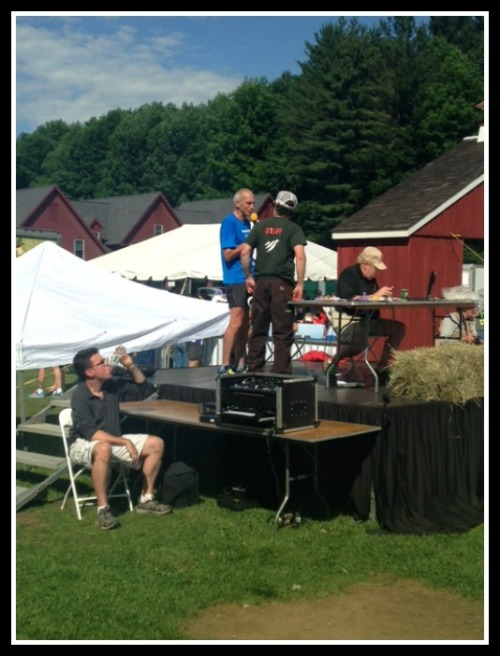 Bart Yasso at the Mad Marathon in Vermont.