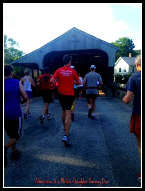 Crossing the first of several covered bridges in the Mad Half
