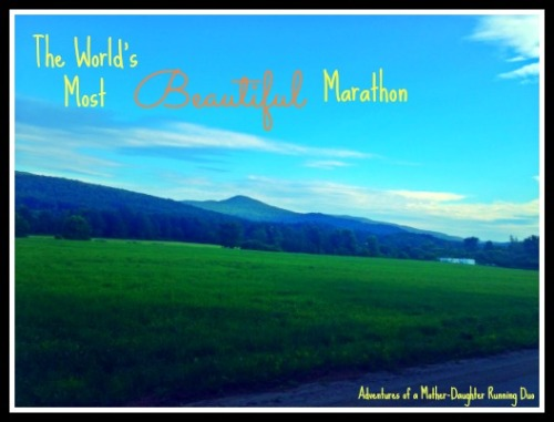 The world's most beautiful marathon- the Mad Marathon in Waitsfield, Vermont.