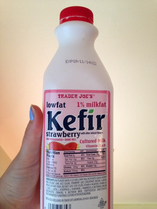 Strawberry kefir from Trader Joe's