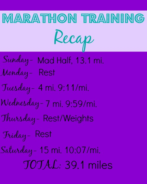 Marathon Training Recap