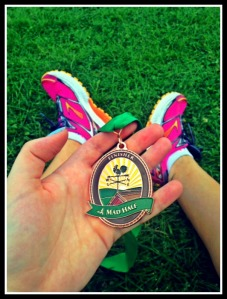 the Medal from the Mad Half Marathon in Waitsfield, Vermont