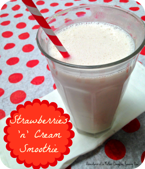 Delicious and refreshing strawberries n' cream smoothie