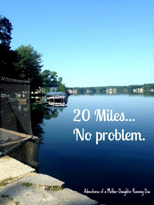 20 miles during marathon training