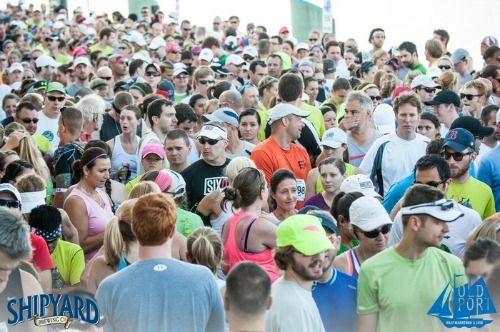 An electric atmosphere at the Shipyard Old Port Half Marathon
