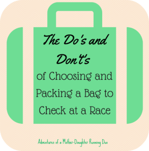 How to Pack a Bag to Check at a Race