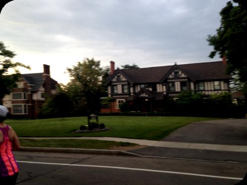 Mansions along East Avenue. Rochester Marathon