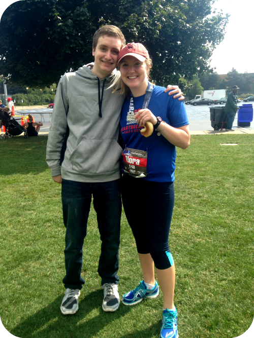 After finishing the Rochester Marathon
