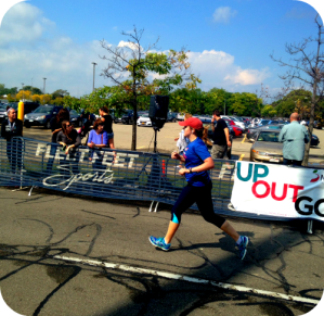 Finishing the Rochester Marathon