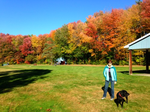 Fall fun with Brady and Keeper. Adventures of a Mother-Daughter Running Duo