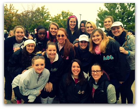 Me and some of my sisters at the Making Strides against breast cancer walk