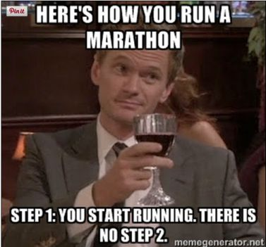 How to run a marathon.