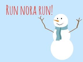Cheering Snowman.